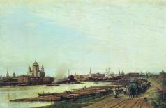 Боголюбов А. П. Вид Москвы с Бабьего городка