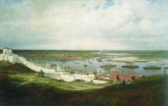 Боголюбов А. П. Вид Нижнего Новгорода