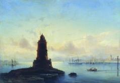 Боголюбов А. П. Вид Ревеля. Маяк (Марина с маяком)