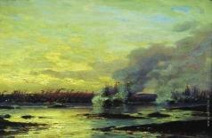 Боголюбов А. П. Гангутский бой (Второй момент сражения русского галерного флота с корабельным шведским флотом в 1714 году у мыса Гангут)