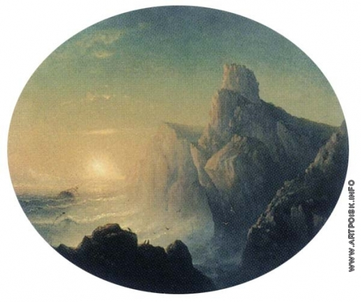 Дорогов А. М. Море и скалы с тонущим кораблем