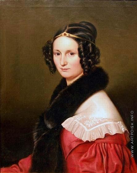 Дорнер И. К. Портрет молодой дамы с диадемой
