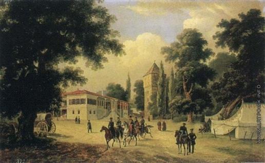 Дезарно А. О. Штаб-квартира фельдмаршала И. И. Дибича-Забалканского в Эски-Сарае близ Адрианополя