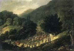 Дезарно А. О. Переход гвардии через ущелье вблизи Балчика