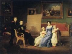 Дезарно А. О. Семейный портрет художника