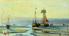 Боголюбов А. П. Голландия. Отлив в Схевенингене