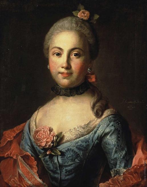 Аргунов И. П. Портрет неизвестной в темно-голубом платье