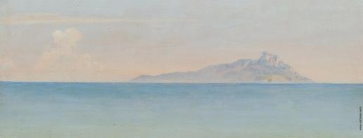 Иванов А. А. Море со скалой на горизонте