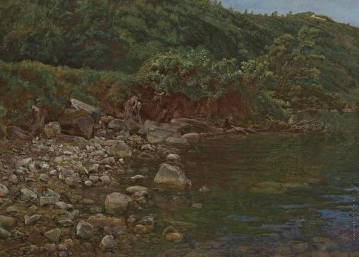 Иванов А. А. Вода, каменистый берег и камни в воде