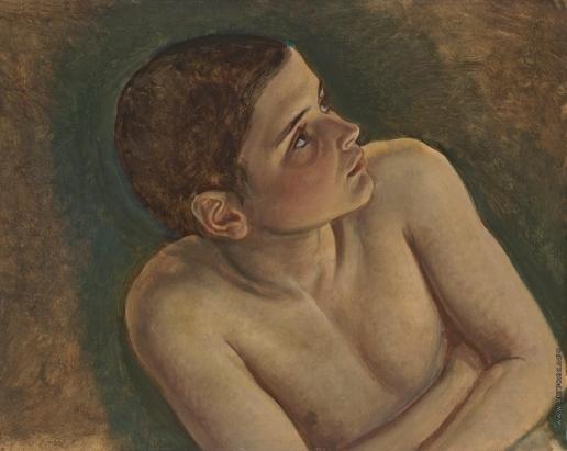 Иванов А. А. Обнаженный мальчик в тени, в повороте мальчика из средней группы (полуфигура)