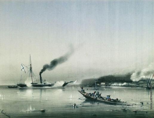 """Боголюбов А. П. Действия парохода """"Колхида"""". 1853 год"""