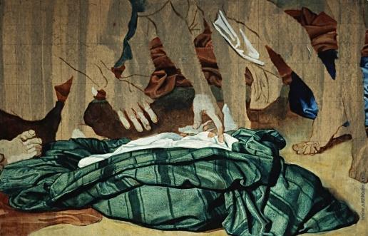 Иванов А. А. Драпировки, лежащие на земле около богатого старика и раба
