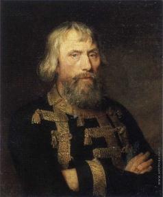 Голике В. А. Портрет пожилого мужчины в кафтане с позументом