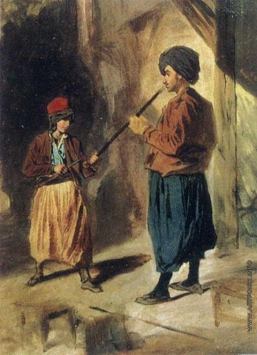Гагарин Г. Г. Турок с чубуком и мальчик