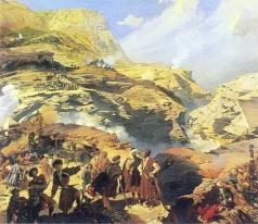 Гагарин Г. Г. Сражение при Ахатле 8 мая 1841 года