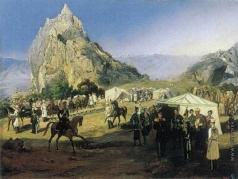 Гагарин Г. Г. Летний лагерь Нижегородского драгунского полка под Караагачем