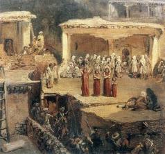 Гагарин Г. Г. Погребальная церемония в ауле Ахальчи в Аварии, в Северном Дагестане