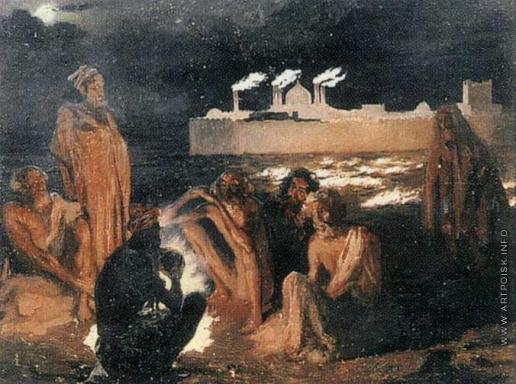 Гагарин Г. Г. Огнепоклонники-гебры у храма Атеч-Га на Апшеронском полуострове