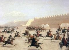 Гагарин Г. Г. Джигитовка курдов и татар перед крепостью Сардар-Аббат в Армении