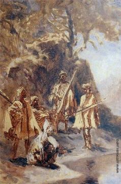 Гагарин Г. Г. Группа кавказских горцев