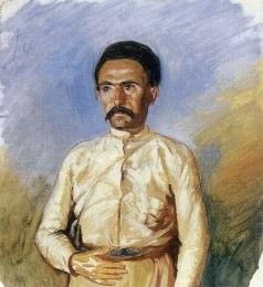 Гагарин Г. Г. Кавказец-мусульманин в белом бешмете