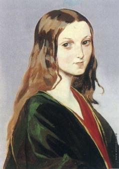 Гагарин Г. Г. Портрет девушки-грузинки