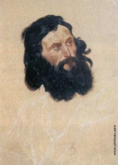 Гагарин Г. Г. Голова чернобородого мужчины