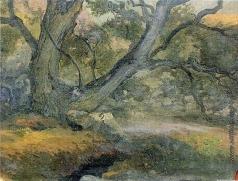 Гагарин Г. Г. Горный пейзаж с деревом