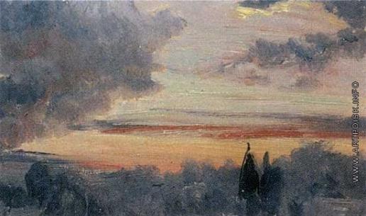 Гагарин Г. Г. Небо при закате