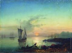 Боголюбов А. П. Закат на берегу моря