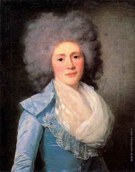 Вуаль Ж. Женщина в голубом