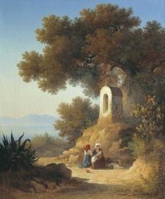 Воробьев С. М. Итальянский пейзаж. Отдых у часовни