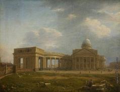Воробьев М. Н. Вид на Казанский собор с западной стороны