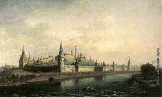 Воробьев М. Н. Вид Московского Кремля со стороны Каменного моста