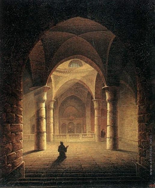 Воробьев М. Н. Внутренний вид Армянской церкви в Иерусалиме