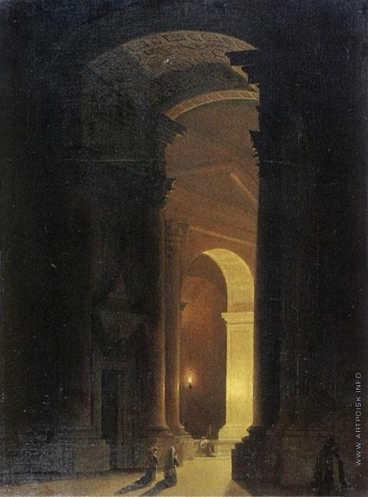 Воробьев М. Н. Внутренний вид храма Гроба Господня в Иерусалиме
