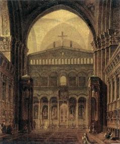Воробьев М. Н. Внутренний вид храма в Иерусалиме