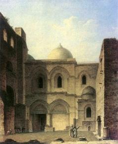 Воробьев М. Н. Вход в храм Воскресения Христова в Иерусалиме