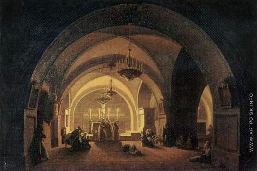 Воробьев М. Н. Внутренний вид церкви на Голгофе в Иерусалиме
