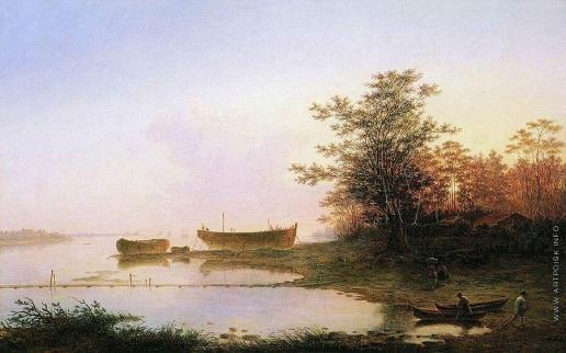 Воробьев М. Н. Закат солнца в окрестностях Петербурга