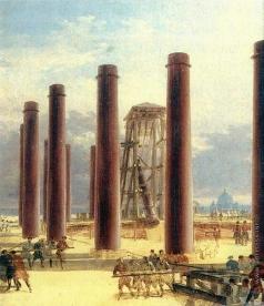 Воробьев М. Н. Установка колонн главного купола Исаакиевского собора