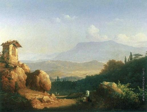 Воробьев М. Н. Вид Сан-Витто в окрестностях Рима