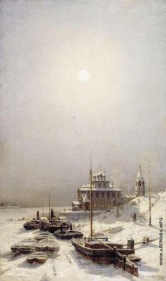 Боголюбов А. П. Зима в Борисоглебске