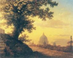 Воробьев М. Н. Дуб Торквато Тассо. Вид на собор Святого Петра в Риме