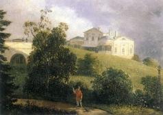 Волосков А. Я. Пейзаж с усадебным домом