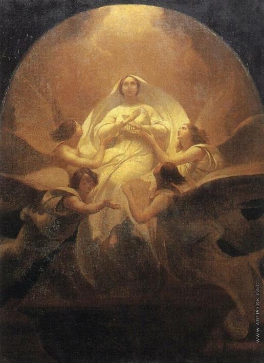 Брюллов К. П. Взятие Богоматери на небо
