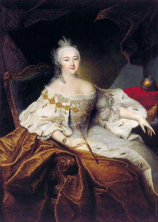 Гроот И. Ф. Портрет императрицы Елизаветы Петровны