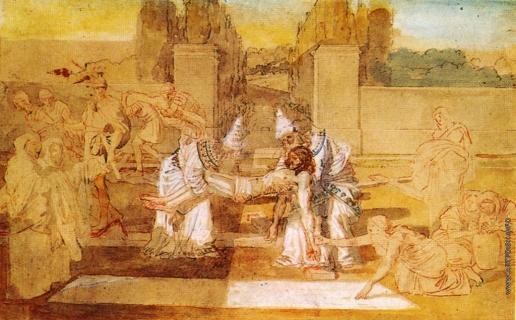 Иванов А. А. Иосиф Аримафейский и Никодим переносят тело Христа