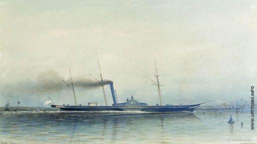 """Боголюбов А. П. Императорская паровая яхта """"Александрия"""" 1852 года"""