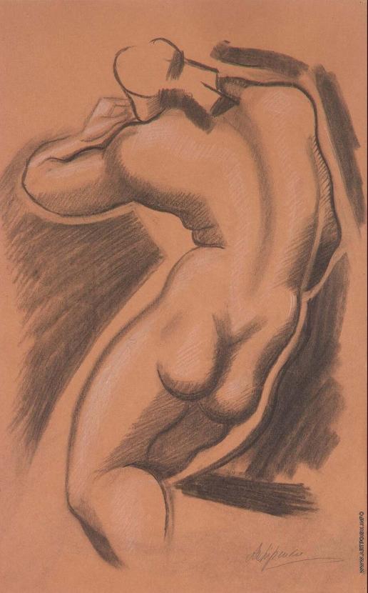 Архипенко А. П. Обнаженная женская фигура со спины